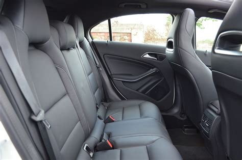 He's especially impressed by the luxurious materials and. Mercedes A Class A180 rear seat