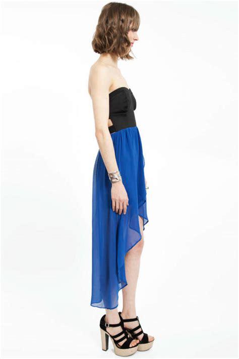 cute blue dress high  dress midi flare dress midi