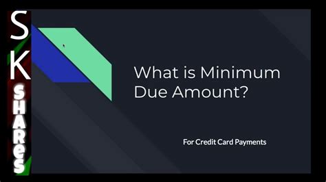 We did not find results for: What is Minimum Amount Due in Credit Card Payment. - YouTube