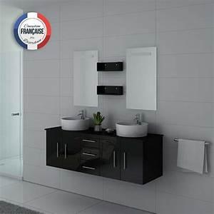 Meuble Double Vasque Suspendu : meuble de salle de bain double vasque noir suspendu meuble double vasque noir dis747 ~ Melissatoandfro.com Idées de Décoration
