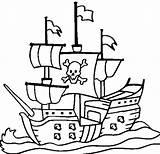 Pirate Ship Coloring Pages Drawing Printable Colouring Boat Pirates Sheets Coloringpagebook Ships Cartoon Print Viking Clip Sail Drawings Anchor Boats sketch template