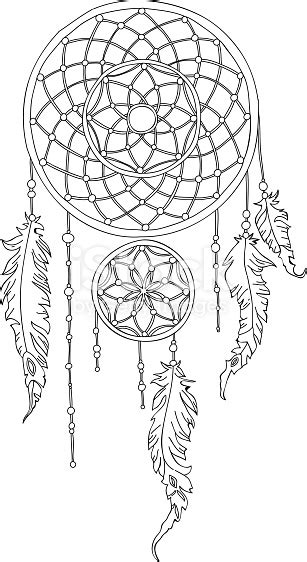 vector hand drawn dreamcatcher outline stock vector art