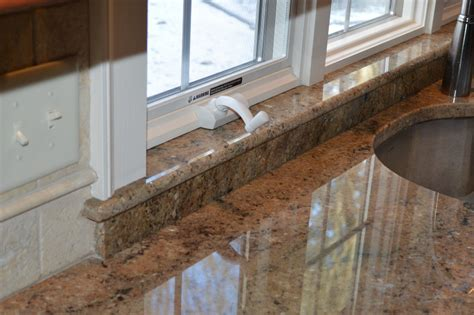 how to tile a kitchen window sill granite window sill kitchen traditional with kitchen 9583
