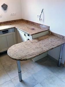 Table De Travail Marbre : plan de travail en granit pour cuisine ~ Zukunftsfamilie.com Idées de Décoration