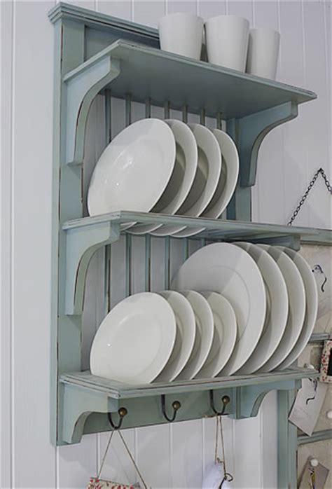 blue kitchen plate rack   white lighthouse