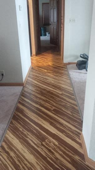 Home Depot Tiger Stripe Bamboo Flooring by Strand Woven Tigerstripe 3 8 In X 5 1 8 In Wide