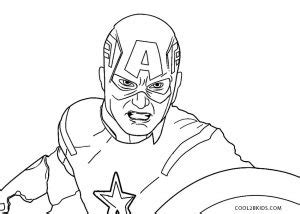 printable captain america coloring pages  kids