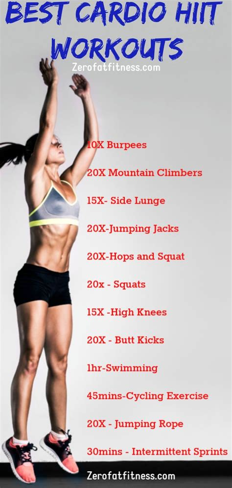 cardio belly fat workout hiit workouts burning flat lose weight exercises loss fitness burn exercise beginners rid thigh perfect weeks