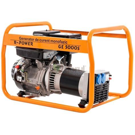 Motor Monofazic 3 Kw Pret by Generator De Curent Ruris R Power Ge 5000 S Monofazic