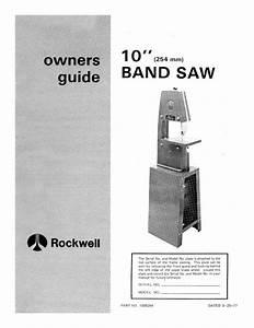 Delta 10 U0026quot  Band Saw Instruction Manual