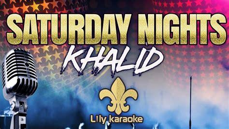 Saturday Nights (karaoke Version)