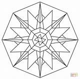 Kaleidoscope Coloring Pages Drawing Printable Paper Games sketch template