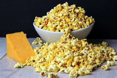image may contain kitchen and 5 minute microwave cheddar cheese popcorn for