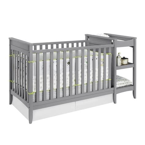 l and table combo 2 in 1 convertible crib and changing table combo set in