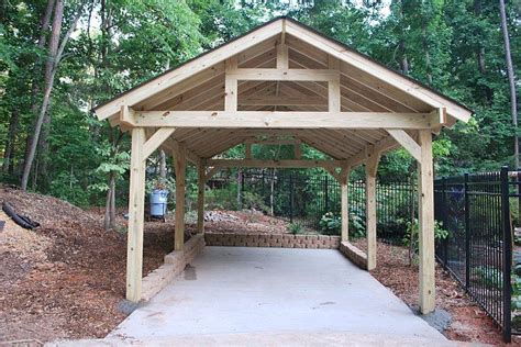 Post And Beam Carport Perfect For Your Rv.