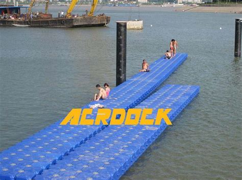 Modular Plastic Pontoons by Plastic Pontoon Modular Float System 001 Acr China