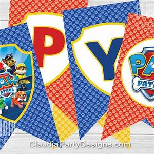 Paw Patrol Birthday Banner - Paw Patrol Party - Claudia