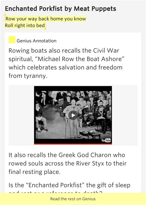 Spiritual Meaning Row Row Row Your Boat by Row Your Way Back Home You Roll Right Enchanted