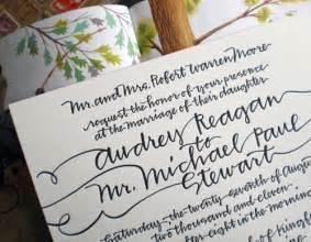 calligraphy wedding invitations ms matilda designs