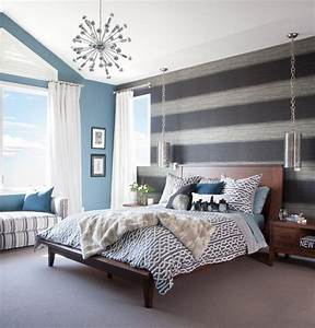 18, Fancy, Bedrooms, With, Striped, Accent, Walls