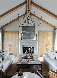 photos 10 interieurs a plafond cathedrale plafonds With deco maison avec poutre 8 1001 conseils et idees pour amenager un salon rustique