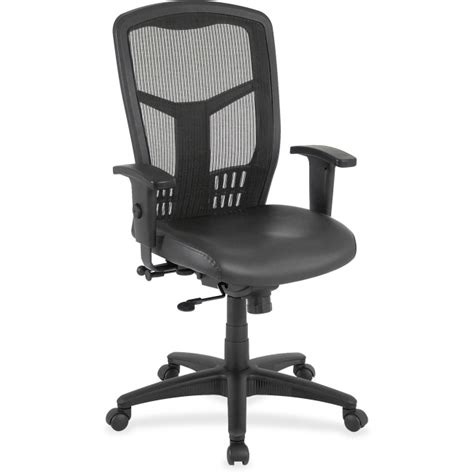 Lorell Executive High Back Chair Leather by Lorell 86208 Executive High Back Mesh Chair Leather Black