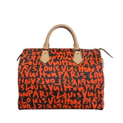 louis vuitton graffiti stephen sprouse speedy  limited edition bag  stdibs