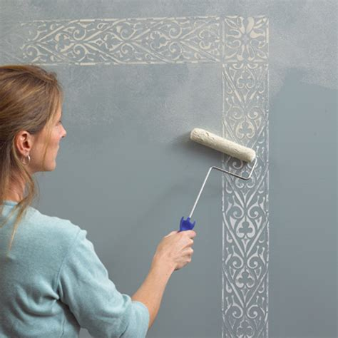 wall painting designs in blue colour beautiful wall painting stencils to play up the walls Simple