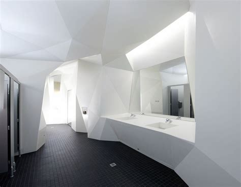 corian walls architecture faceted walls by coniglio ainsworth