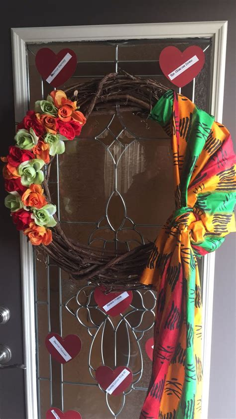 black history month wreath crafts  creations