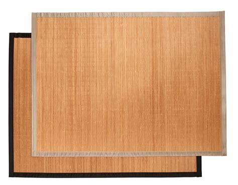 bamboo tapis noir taupe larg   long  cm