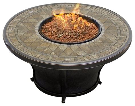 agio balmoral fire table agio balmoral 48 quot round porcelain top fire pit
