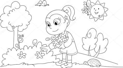 Девушка весна раскраска. Раскраски девочка весной