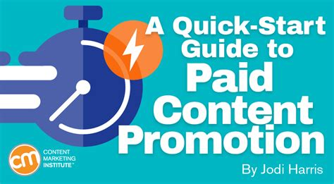 A Quickstart Guide To Paid Content Promotion
