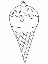 Ice Cream Coloring Cone Waffle Icecream Pencil Sundae Drawing Snow Everybody Pages Printable Sheet Print Getcolorings Bowl Getdrawings sketch template