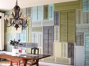 Ideen Fr Wandgestaltung Mit Alten Fensterlden FresHouse