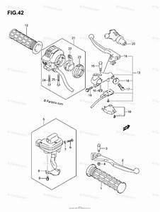 Suzuki Atv 2007 Oem Parts Diagram For Handle Lever