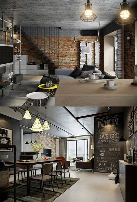 5 Houses That Put A Modern Twist On Exposed Brick by Home Designing Via 5 Houses That Put A Modern Twist On