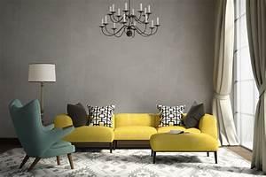 Graue Wand Wohnzimmer : graue wandfarbe der edle trend an der wand graue w nde mit stil ~ Indierocktalk.com Haus und Dekorationen