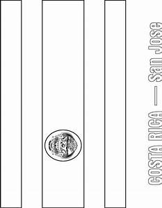 Costa Rican Flag Coloring Page Coloring Pages