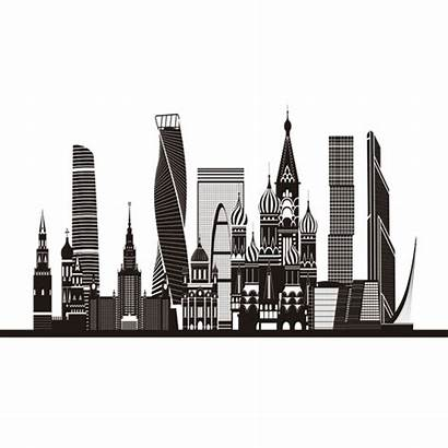 Skyline Moscow Silhouette Transparent Svg Vexels Vector