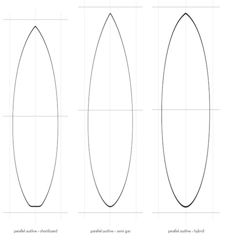 Pintail Longboard Deck Template by Water Drop Outline Clipart Best