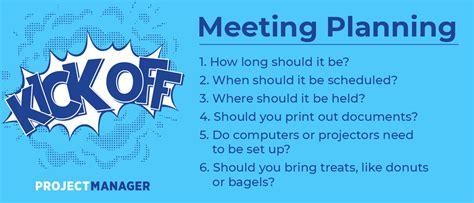 create  kickoff meeting agenda