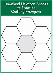 1000 images about printable templates on pinterest With quilting hexagon templates free