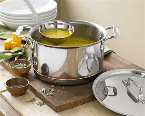 clad copper core soup pot  ladle  qt williams sonoma