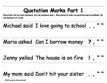 quotation practice worksheet worksheets for all