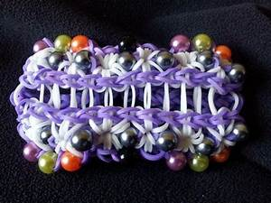 Rainbow Loom DOUBLE STARBURST with Pearls.. Loomed by ...