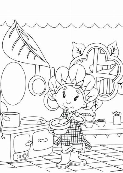 Coloring Cooking Pages Kitchen Utensils Printable Getcolorings