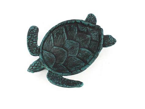 buy seaworn blue cast iron sea turtle decorative bowl 7 inch