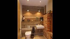 Bad Mit Holz : rustikales badezimmer mit altholz und ziegelw nden youtube ~ Michelbontemps.com Haus und Dekorationen